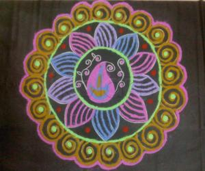 Rangoli: Coloured rangoli