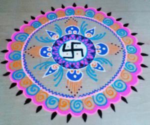 Rangoli: circular rangoli