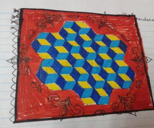 Rangoli on paper