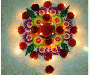 Rangoli: Diwali puja