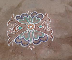 Rangoli: butterfly