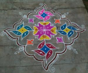 New year kolam 2016