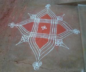 Traditional rangoli