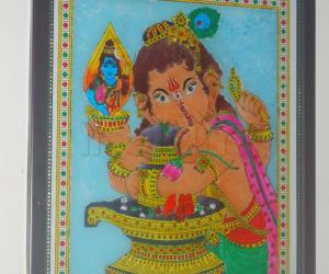 glass  painting  vinayak