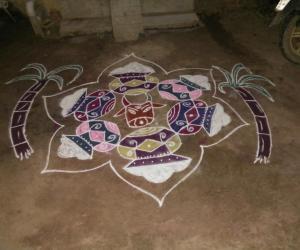 Rangoli: Maattu pongal kolam