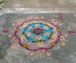 kolam with colors