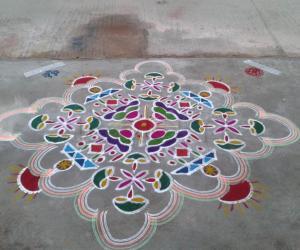 Rangoli: Ratha Sapthami kolam