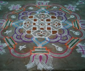 Padi Kolam in a kolam