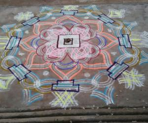 Aadi 4th Friday Kolam