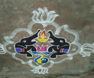 Rangoli: Akshaya tritiya Kolam