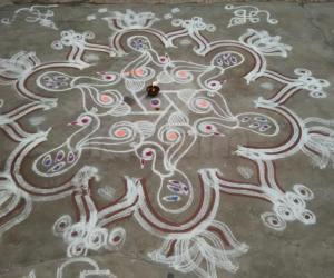 Rangoli: Aadi Day-2 Kolam.