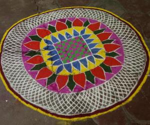 Rangoli: Rangoli for my family  function