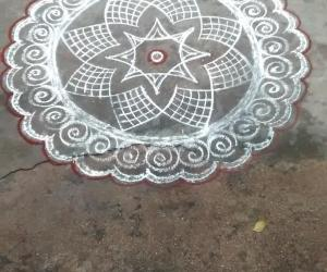 a simple and fast rangoli