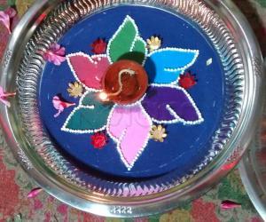 Aarti plate 4 for navarathri contest. 2015