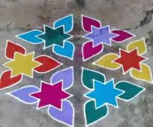 Rangoli: colourful stars