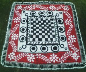 Rangoli: chess carpet
