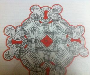 Paper rangoli