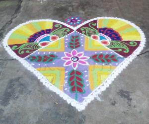 Rangoli: colourful heart