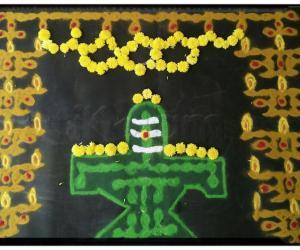 Rangoli: Maha Sivarathri MARAGATHA LINGAM