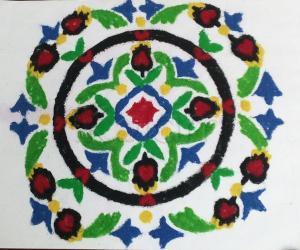 Rangoli:  colourful carpet