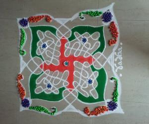 2021 Republic Day Rangoli