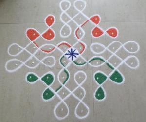Rangoli: tricolor