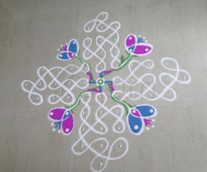 Rangoli: FLOWERS & CHIKKU