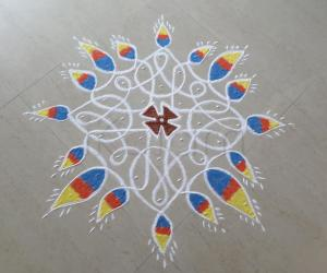 Rangoli: Deepavali Prior Day