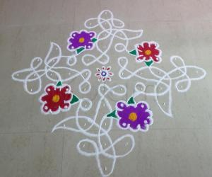 Rangoli: Rangoli for HAPPY BIRTH DAY LATA.