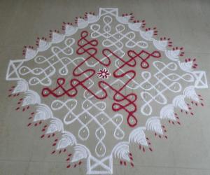 Rangoli: Day16 Margazhi Kolam