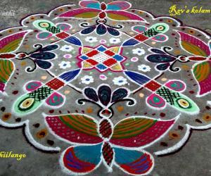 Rangoli: Rev's butterfly kolam.