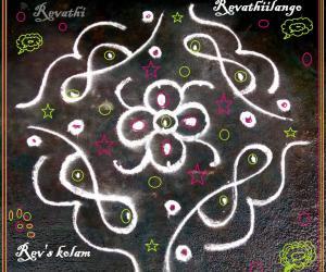 Rangoli: Rev's daily kolam 6: