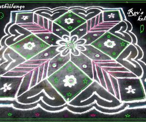 Rangoli: Rev's daily kolam 7: