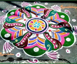 Rangoli: Rev's margazhi kolam 5.