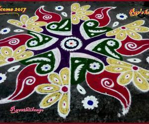 Rangoli: Rev's welcome 2017 kolam.