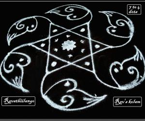 Rangoli: Rev's daily star kolam.