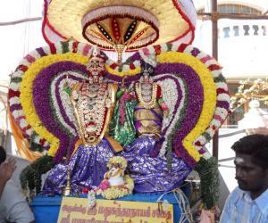 Rangoli: Blessings of God give all of us Prosperity. For Akshaya Thrithiai.