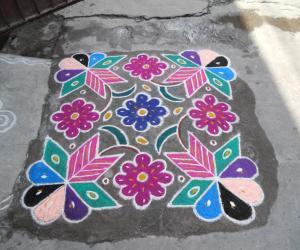 May Dinam Colourful Kolam.