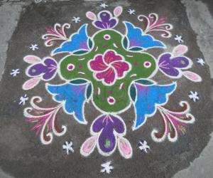 Rangoli: A different rangoli.