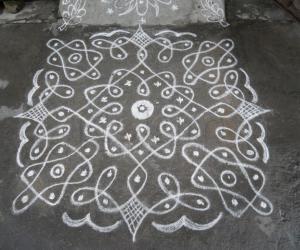 Rangoli: Rev's own creation chikku.