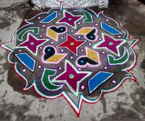 Rangoli: Rev's margazhi creation 10.