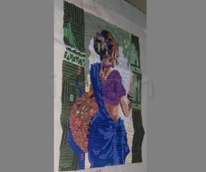 Thread work - Fisher woman