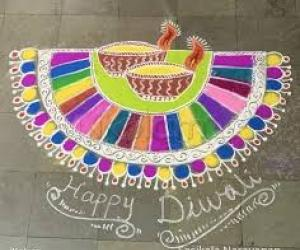Diwali Diya Rangoli