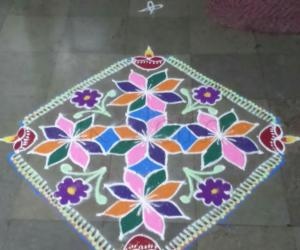 Tamil new-year rangoli