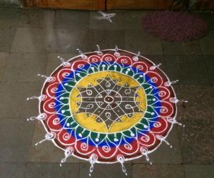 Ganesh chathurthi rangoli