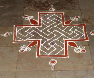 simple dotted kolam