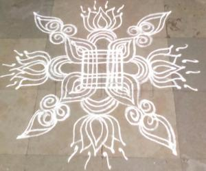 simple festival kolam