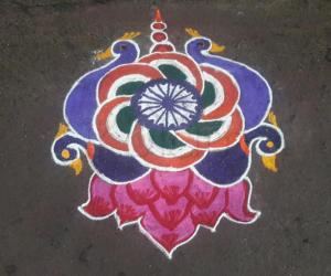 Rangoli: Republic day kolam