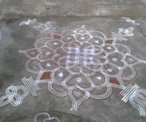 Rangoli: tuesday kolam