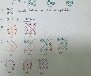 Basic Patterns for Chikku Kolams - 1
